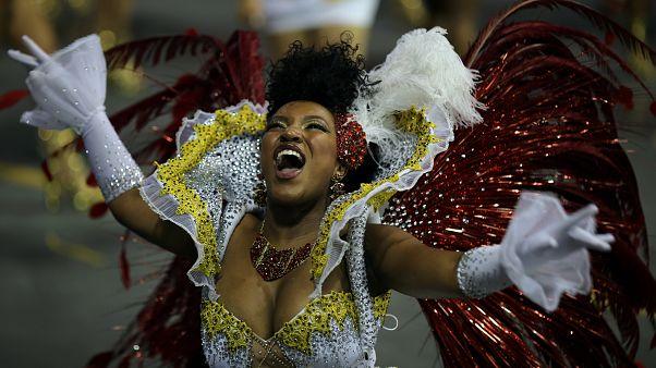 Feathers and diamanté: Brazil's samba schools strut their stuff