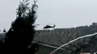 Helicóptero turco derrubado na Síria
