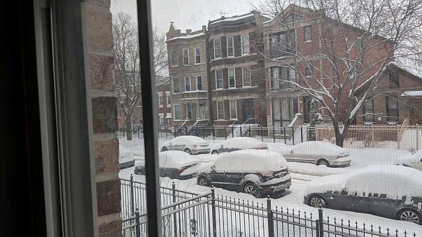 Мощные снегопады на Среднем Западе