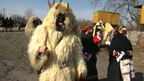 Horns and sheepskin: Hungary marks end of winter with Busós festivities