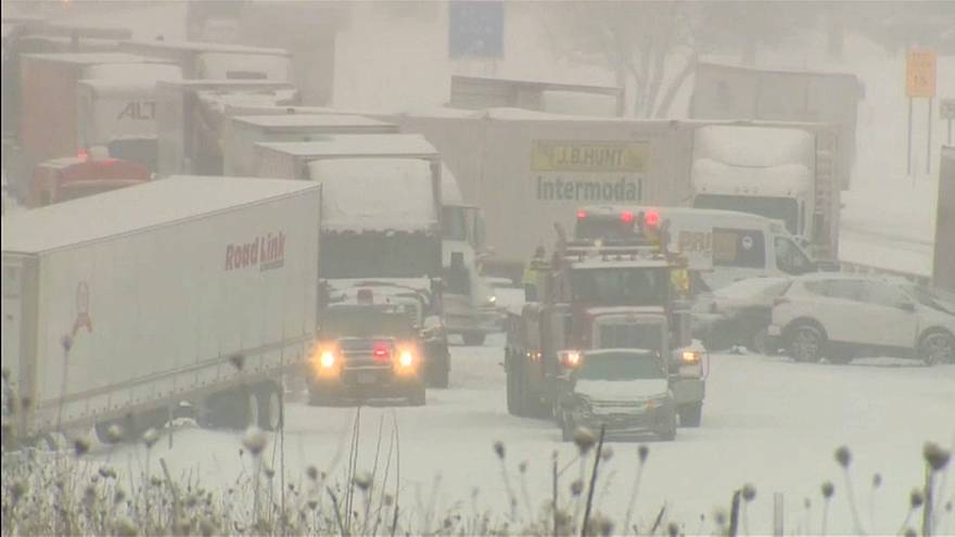Tempête de neige dans le Midwest