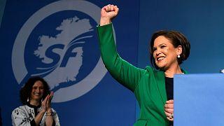 Newly elected Sinn Fein President Mary Lou McDonald