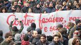 İtalya'da halk ırkçılığa karşı yürüdü