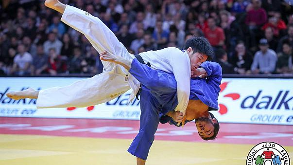 Clarisse Agbegnenou shares her golden moment with Paris at Judo Grand Slam