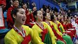North Korea's cheer squadNorth Korea's cheer squad