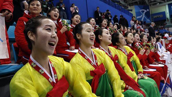 North Korea's cheer squadNorth Korea's cheer squad