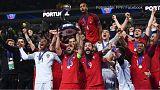 O momento da festa que confirmou Portugal Campeão da Europa
