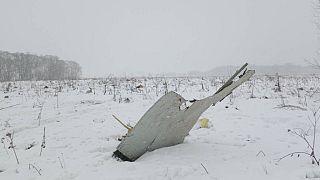 Wrackteil der AN-148 an der Absturzstelle südöstlich von Moskau