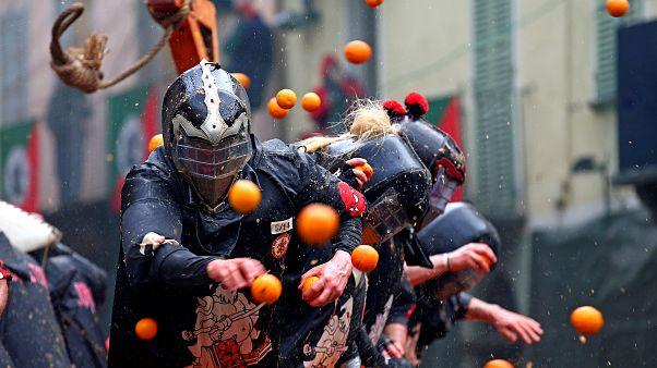 A Ivrée, un Carnaval sous les oranges