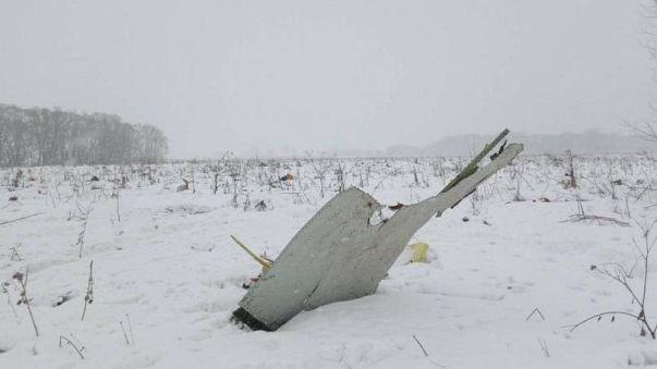 جزء من حطام الطائرة الروسية