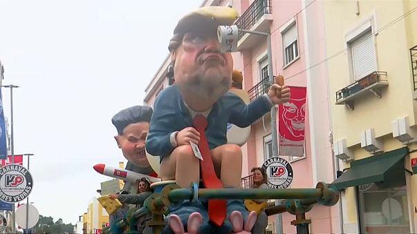 Путин и Трамп на карнавале