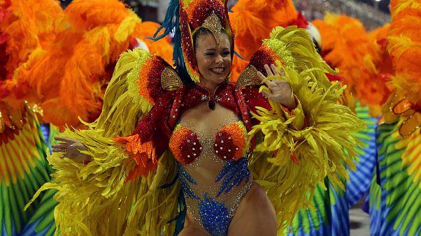 A reveller from Sao Clemente Samba school