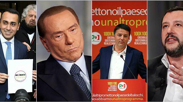 De Berlusconi a Renzi: Quién es quién en las elecciones italianas