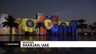 Fényfestés az Egyesült Arab Emírségekben