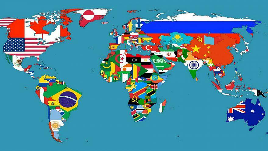 خريطة لدول العالم