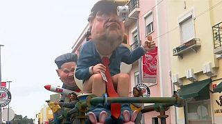 Trump y Kim Jong-un protagonistas en el carnaval de Torres Vedras