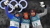 Címvédések a téli olimpia hétfői versenynapján