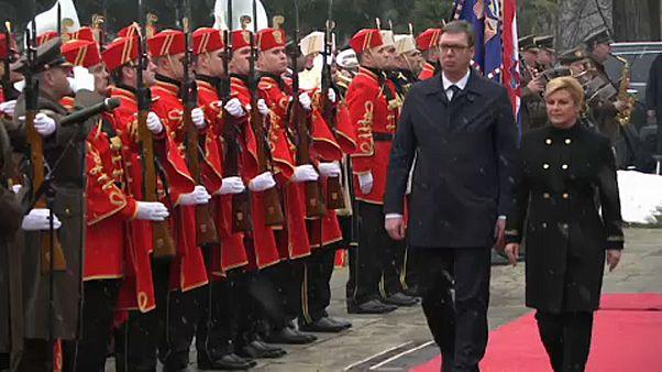 Sırbistan ve Hırvatistan liderleri anlaşmazlıkları gidermeye çalışıyor