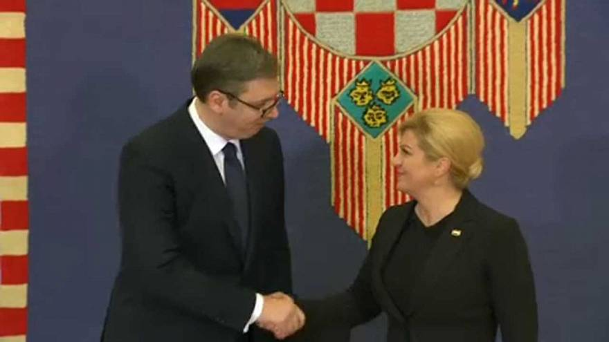 Zágrábba látogatott a szerb elnök
