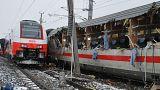 Столкнулись пассажирские поезда