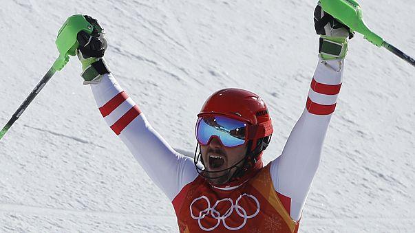 JO-2018 - Ski/combiné : victoire de l'Autrichien Marcel Hirscher