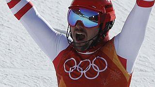 Austria's Marcel Hirscher took gold in his least favoured win