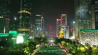 Canton illuminée pour le Nouvel An chinois