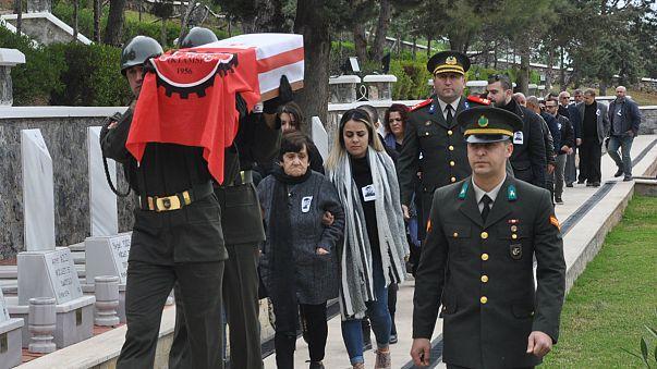 44 yıl sonra bulunan Kıbrıs şehidi askeri törenle defnedildi