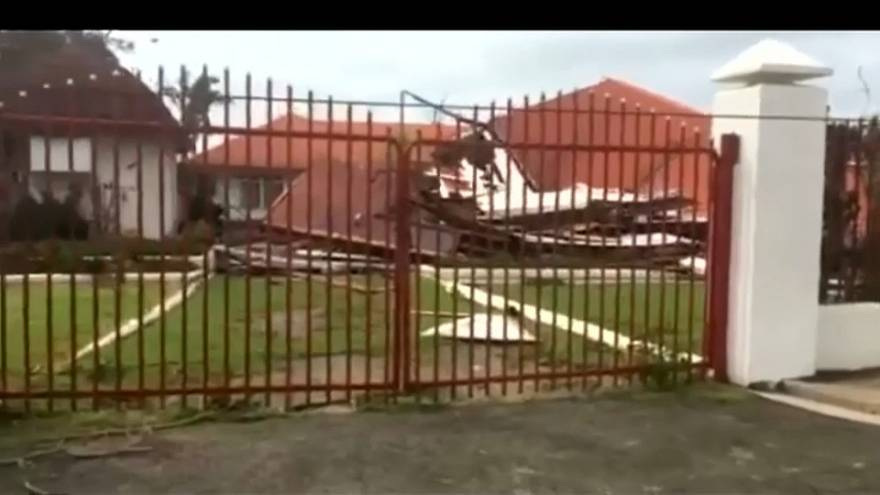 Tonga's parliament flattened by cyclone Gita