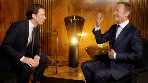 Kurz anuncia cimeira sobre migração durante visita de Tusk