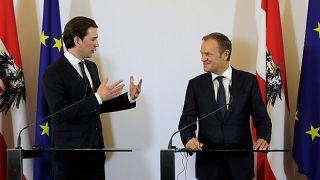Le chancelier autrichien et le président du Conseil européen