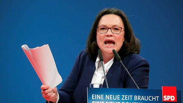 Andrea Nahles prestes a ser a primeira mulher a liderar o SPD