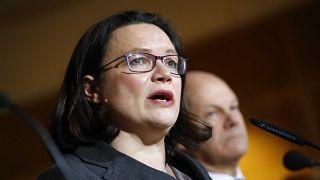 Übergangschef und wahrscheinliche künftige Chefin der SPD vereint im Bild