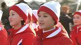 Claque norte-coreana menos sorridente