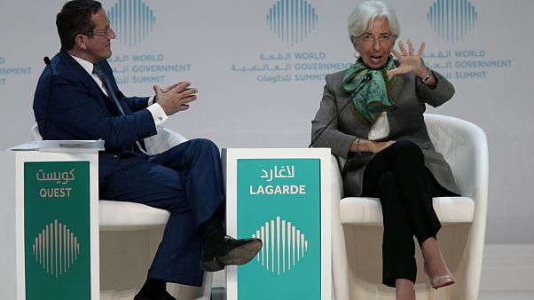 Christine Lagarde, az IMF vezérigazgatója (j) beszél a csúcson