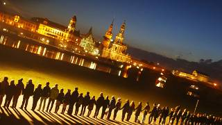 Dresdner erinnern an Kriegszerstörung