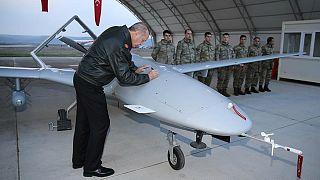 بازدید اخیر رئیس جمهوری ترکیه از پایگاه پهپادهای این کشور