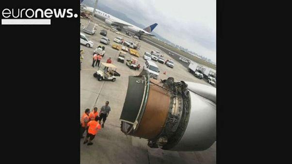 حادثه در پرواز یونایتد ایرلاینز آمریکا؛ هواپیما سالم نشست