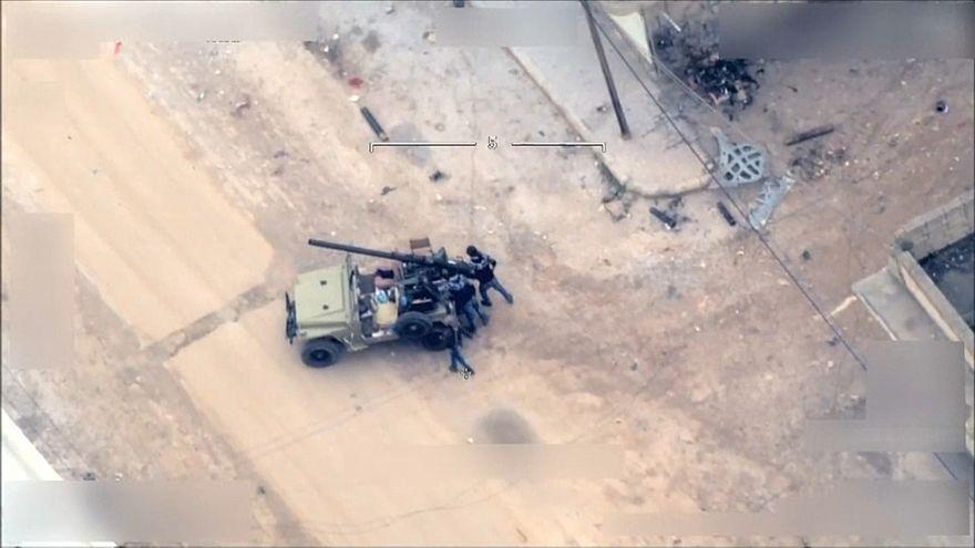 شاهد: هجوم بالقذائف على الأراضي التركية وأنقرة ترد بتدمير مقر للأكراد في عفرين