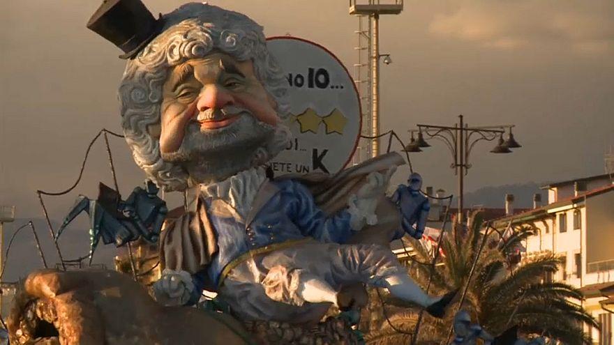 Défilé satirique au carnaval de Viareggio