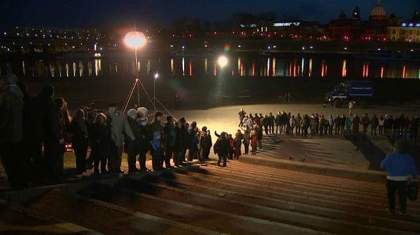 Dresde recuerda a las víctimas del bombardeo de 1945