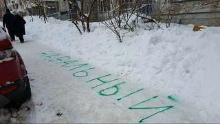 NAWALNY im Schnee hält Stadtwerke auf Trab