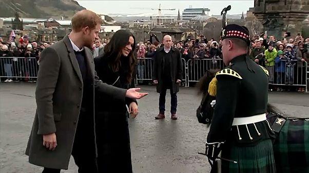 Prince Harry and Meghan Markle meet Cruachan IV in Edinburgh