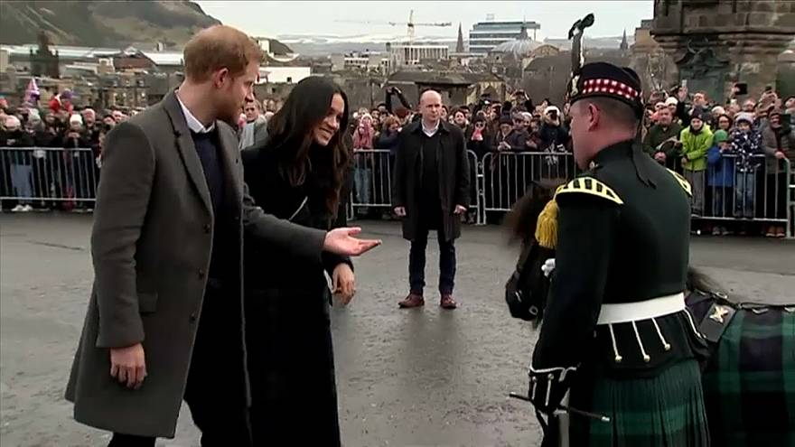 Prince Harry and Meghan Markle meet Cruachan IV in Edinburgh