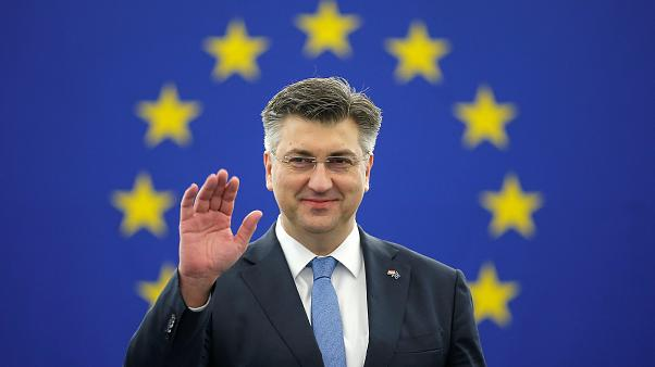 Croatian PM Andrej Plenkovic in Strasbourg, France, Feb 6, 2018.