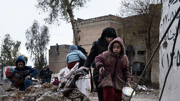 UNICEF/Alessio Romenzi أسرة عراقية نازحة
