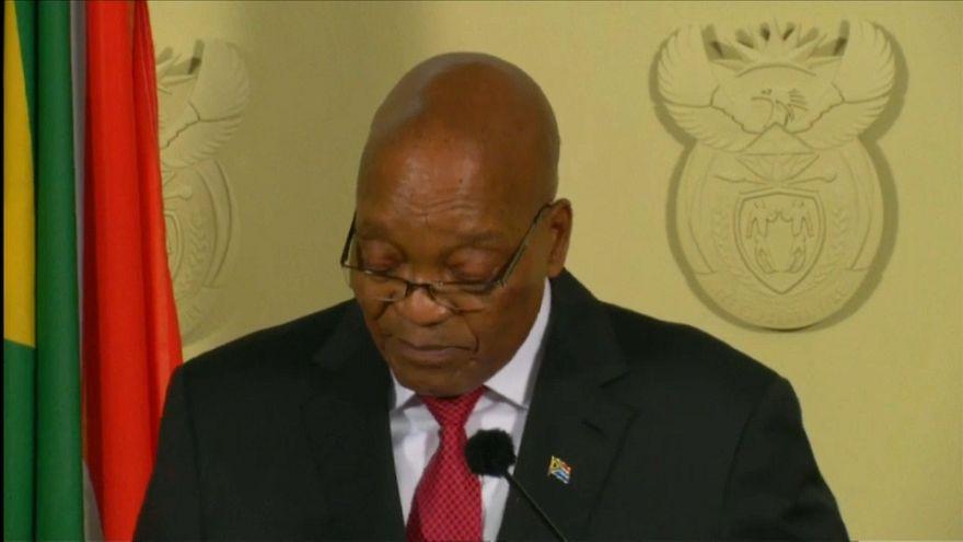 رئيس جنوب إفريقيا جاكوب زوما يستقيل من منصبه