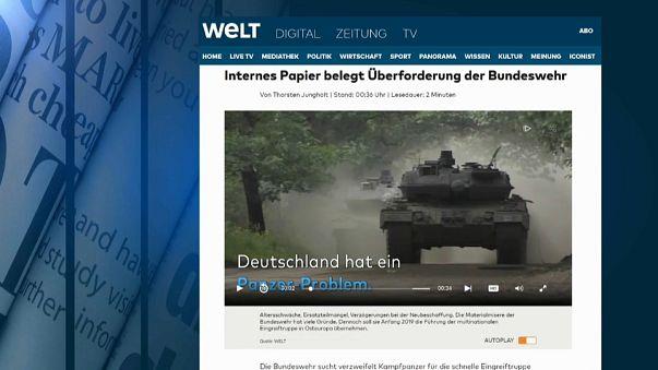 """Lo scoop del """"Die Welt"""" sulle forze armate tedesche a corto di mezzi"""