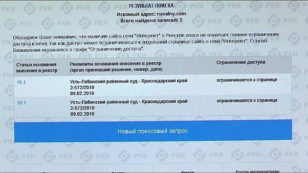 Сайт Навального заблокирован
