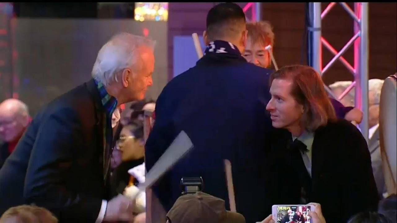 Bill Murray & Wes Anderson raise a racket at the Berlinale opening